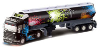 Container Gas Truck Black 1:32
