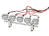 G.T.Power 5-LED Crawler Roof Light Chrome Kit (нажмите для увеличения)