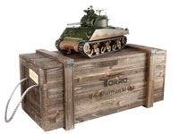 Sherman M4A3 75mm Airsoft RC Tank PRO 1:16 Metal with Wooden Box 2.4GHz