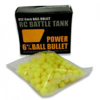 Power Ball Bullets 6mm for RC Battle Tank