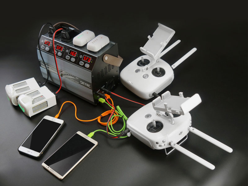 Зарядное устройство SkyRC 4P3 DJI Phantom 3&4 Battery Charging Station 6A 100W (SK-100118) (нажмите для увеличения)
