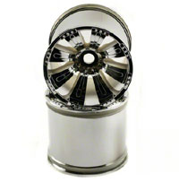 Axial 8 Spoke Oversize Monster Truck Wheels HEX17 Chrome 2pcs