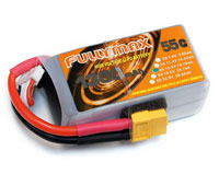 Fullymax LiPo Battery 4S 15.2V 1300mAh 55C High Voltage XT60 (нажмите для увеличения)