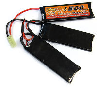 VBPower Airsoft Battery 3 Sticks LiFe 9.9V 1500mAh 20C Mini Tamiya (нажмите для увеличения)
