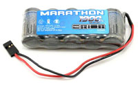 Team Orion Marathon XL 6V 1900mAh 2/3А Receiver Pack Flat JR Plug (нажмите для увеличения)