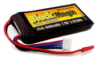 Black Magic 2S LiPo Battery 7.4V 800mAh 25C JST-BEC (нажмите для увеличения)