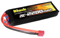 Black Magic 3S LiPo Battery 11.1V 2200mAh 25C with T-Plug (нажмите для увеличения)