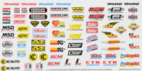 Traxxas Racing Sponsors Decal Sheet
