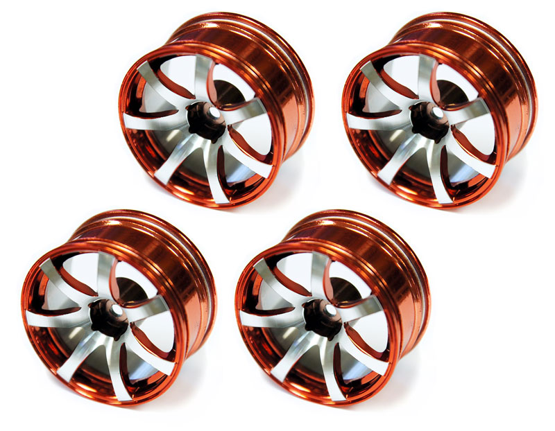 Диски металлические Austar 7-Spokes Aluminum Wheel Red/Chrome 26mm 4pcs (AX-613R) (нажмите для увеличения)