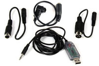 Dynam USB FMS Simulator Cable Set Include Futaba Square Adaptor (нажмите для увеличения)