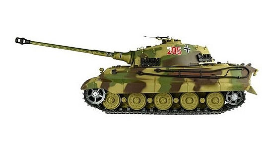 Радиоуправляемый танк HengLong German King Tiger Henschel Turret Airsoft RC Battle Tank 1:16 with Smoke 2.4GHz (HL3888A-1) (нажмите для увеличения)