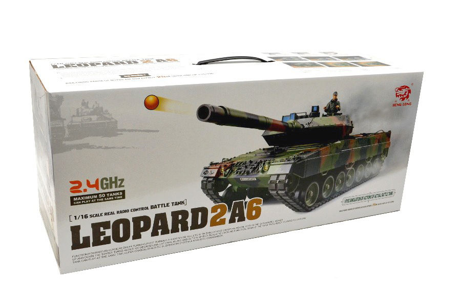 Радиоуправляемый танк HengLong German Leopard 2A6 Airsoft RC Battle Tank 1:16 with Smoke 2.4GHz (HL3889-1) (нажмите для увеличения)