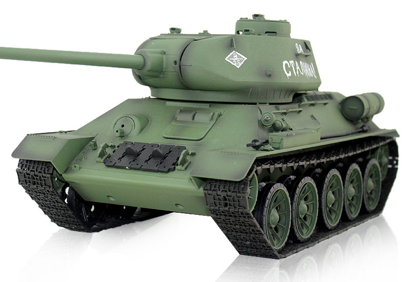 Радиоуправляемый танк HengLong T34-85 Airsoft RC Battle Tank 1:16 with Smoke 2.4GHz (HL3909-1) (нажмите для увеличения)