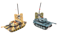 HuanQi 508 Tiger vs Leopard Infrared Remote Control Battle Tank Set (нажмите для увеличения)