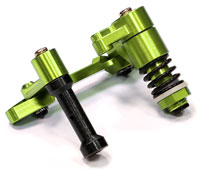 Billet Machined T2 Steering Bell Crank Green Savage X (нажмите для увеличения)