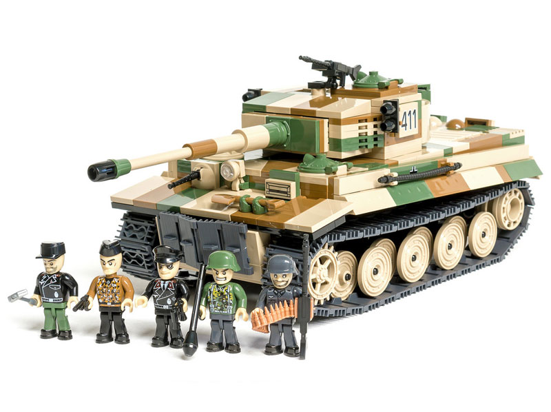 Конструктор Танк Тигр Cobi Small Army. Tiger PzKpfw VI Ausf. E German Heavy Tank (COBI-2487) (нажмите для увеличения)