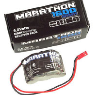Team Orion Marathon 6V 1600mAh 2/3А Receiver Pack Hump JST-BEC (нажмите для увеличения)