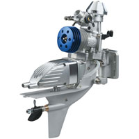 OS Max 21XM VII Air Cooled Outboard Marine Engine 20J with E-2050-2 Silencer (нажмите для увеличения)