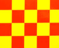 Cymodel Film Cover Squares Yellow/Red 60cm 1m (нажмите для увеличения)
