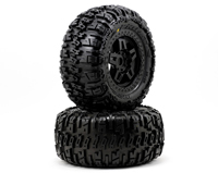Trencher 3.8in 40 Series All-Terrain Tires Mounted on Tech 5 Black Wheels 2pcs