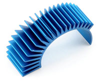 Aluminium Radial Clip On Heatsink Short Blue (нажмите для увеличения)