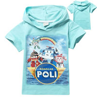 Robocar Poli Friends T-Shirt with Hood Blue 100 (нажмите для увеличения)