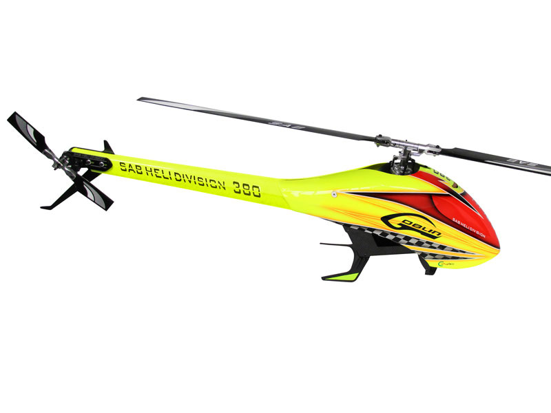 Радиоуправляемый вертолёт SAB Goblin 380 Flybarless Electric Helicopter Yellow/Orange Kit with Blades (SG383) (нажмите для увеличения)