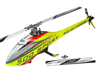 SAB Goblin 500 Sport Flybarless Electric Helicopter Yellow/Red Kit with 2 Sets of Blades (нажмите для увеличения)