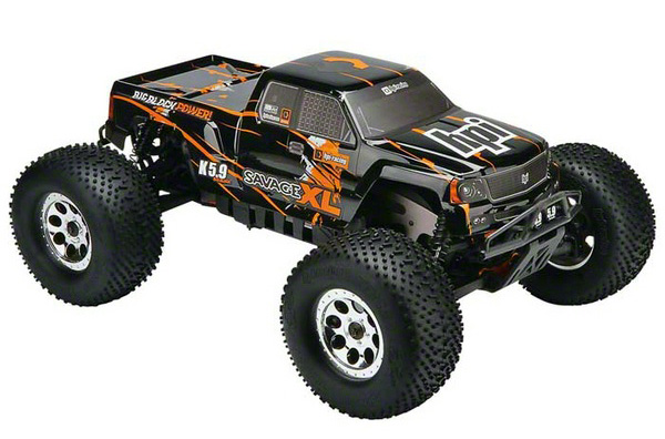Радиоуправляемая машина HPI Savage XL 5.9 Gigante Truck Body Black/Orange 2.4GHz RTR (HPI-112601) (нажмите для увеличения)