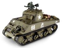 Sherman M4A3 Airsoft RC Battle Tank 1:16 with Smoke 2.4GHz