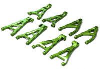 Aluminum Suspension Arm Set Green E-Revo 1/16