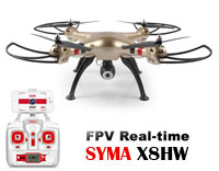Syma X8HW FPV Quadcopter with Camera 2.4GHz RTF
