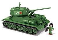 Cobi Historical Collection WW2. T-34/85 Soviet Tank
