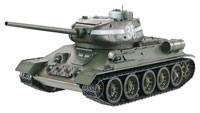 T34-85 Green Airsoft RC Tank 1:16 Metal with Smoke 2.4GHz
