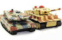 HuanQi 558N Tigr I vs Leopard 2A5 Infrared Remote Control Battle Tank Set 1:24 (нажмите для увеличения)