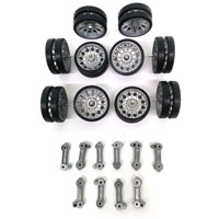 Taigen T34-85 Metal Road Wheels & Metal Suspension Arm Set