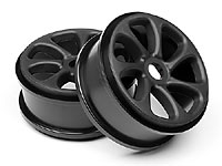 Black Turbine Wheels 2pcs