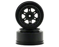Split Six 2.2/3.0 Black One-piece Wheels SC10 2pcs